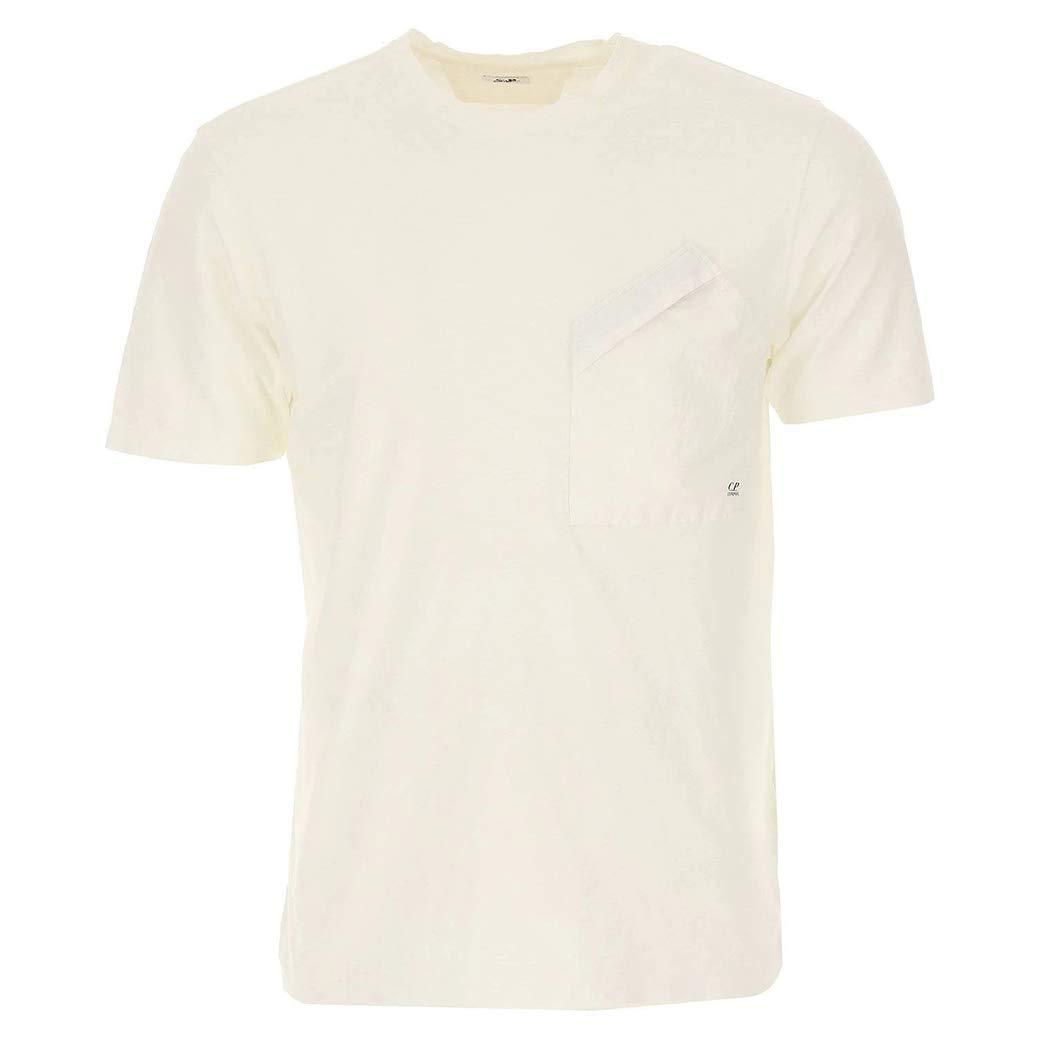 S CP Company Malfile T-Shirt de Poche en Jersey pour Homme Blanc