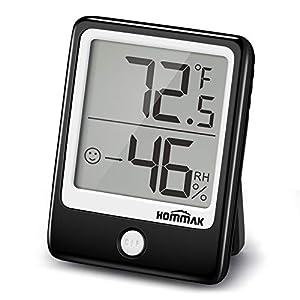 Hommak Igrometro Termometro, Termoigrometro digitale, mini Termo-igrometro interno, Piccolo, per Casa, Camera da Letto… 41ZUDot5nyL. SS300
