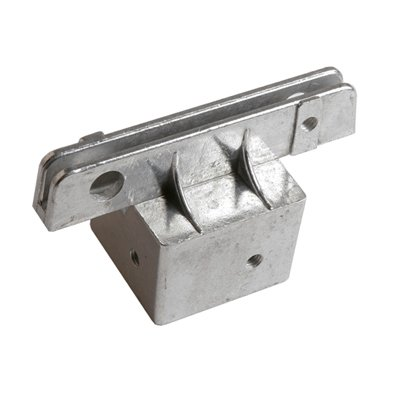Square Post Street Sign Bracket, Size=2 inch, Bracket Options=Flat Sign in 5.5 inch slot