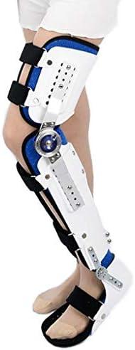 膝下肢装具ブレース 調整可能な膝装具、半月板断裂用の膝と足首の装具、足の内反の予防、足の落下と足首の捻rainの予防
