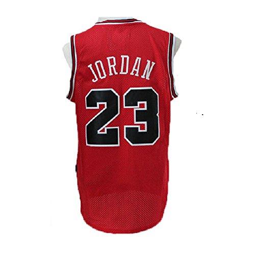 meetziis Men's #23 Basketball Jerseys Retro Jersey Red(S-XXL) - Authentic Jordan Michael Jersey