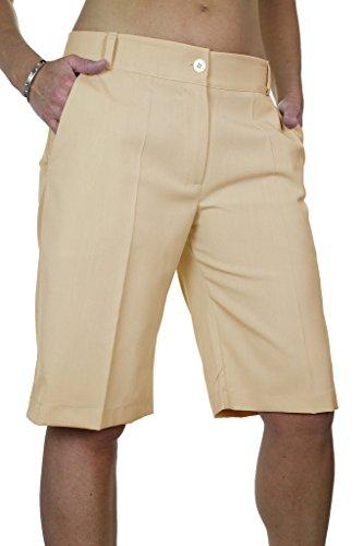 ICE 1492 Giorno intelligente Tailored Sera Beige pantaloncini lavabile Ladies 1Hdqw1r