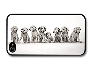 AMAF ? Accessories Eight Cute Dalmatian Puppies case for iPhone 4 4S