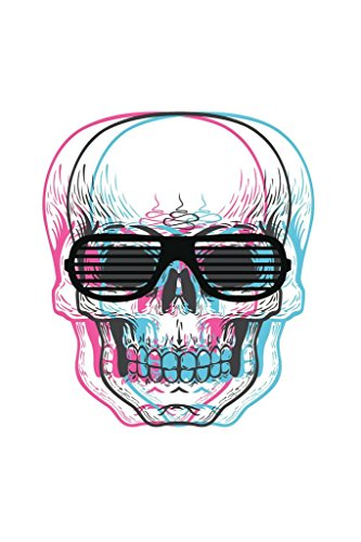 Laminated Skull with Shutter Sunglasses Art Print Sign Poster 12x18 inch