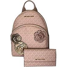 MICHAEL Michael Kors Abbey MD Backpack bundled with Michael Kors Jet Set Travel Trifold Wallet