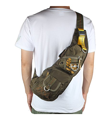 Sling Chest army Bag Backpack Extra Shoulder Green Innturt Nylon 5W7qAwqT