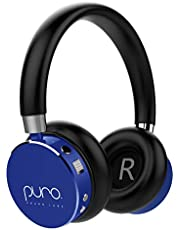 Puro Sound Labs BT2200 Kids Volume-Limiting Over-Ear Wireless Headphones (Blue)