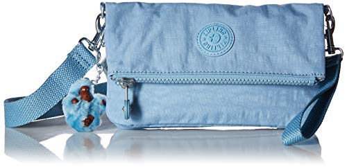 Kipling Women's Lynne Convertible Crossbody Bag, Wear 3 Ways, Zip Closure, blue beam tonal
