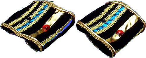 Egyptian Jewel Cleopatra Costumes (Forum Novelties Incredible Character Egyptian Costume Wrist Bands Pair)