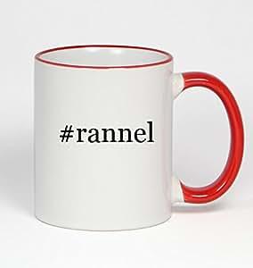 #rannel - Funny Hashtag 11oz Red Handle Coffee Mug Cup