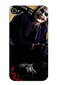 Fashion Tpu Case For Iphone 4/4s- The Dark Knight Joker Batman Defender Case Cover For Lovers