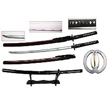 New Handmade Battle Ready Razor Sharp Japanese Fighting Samurai War Lord Warrior Miyamoto Musashi Wakizashi Katana Sword & Display Stand