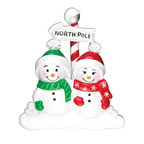 PERSONALIZED CHRISTMAS ORNAMENTS FAMILY SERIES NORTH POLE FAMILY OF 2 KIT