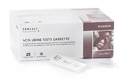 (McKesson 5001.0 Consult One-Step hCG Pregnancy Test Urine Sample CLIA Waived Rapid Diagnostic Kit (Pack of 25))