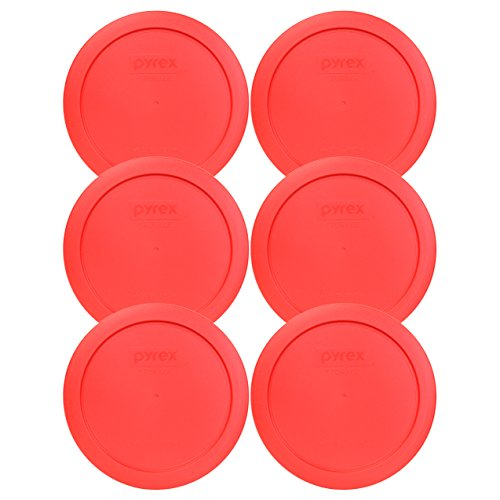 Pyrex 7201-PC Round 4 Cup Storage Lid for Glass Bowls (6, Red)