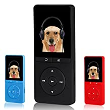 FecPecu 8GB MP3 Player, Music Player Hi-Fi Sound 80 Hours Playback Portable Audio Player Expandable Up to 64GB (Black)