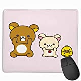 AntonioWilliams Rilakkuma Colorful Gaming Mouse Pad, Non-Slip Rubber Mouse Pad Game Office Learning Precision Seaming 25X30cm