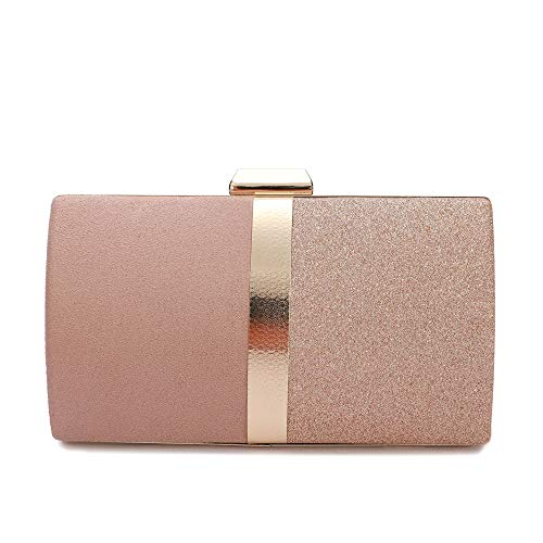 - Evening Clutch for Women, Evening Bag Crossbody Bag Wedding Bridal Purse Cocktail Party Prom (JM0818 Pink)