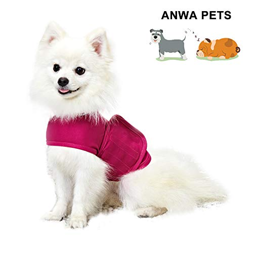 ANWA Dog Anxiety Thunder Vest Coat, Calming Dog Thunder Jacket Wrap, Dog Thunder Shirts for Small Medium Large Dogs Red XSmall