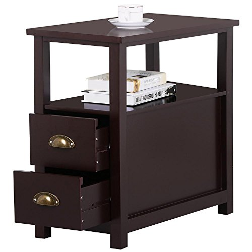 Cherry end tables living room - Narrow side tables for living room ...