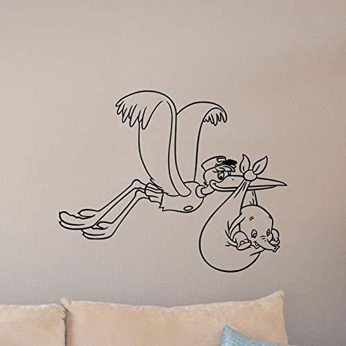 Bebé Dumbo Tatuajes de Pared decoración de la cigüeña Cartel ...