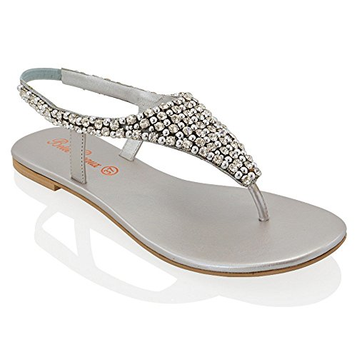 Silver sandals for wedding for Flat dress sandals for weddings