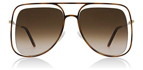 Chloe CE130S 213 Havana/Brown Poppy Square Pilot Sunglasses Lens Category 3 -