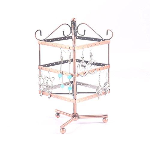 etruke 3Ebenen Jewelry Halterung Metall Display Ständer Ohrringe Halsketten Armbänder usw. bronze