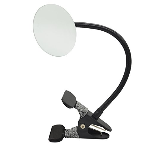 Clip On Security Mirror, Ampper Convex Mirror for Personal Safety and Security Cabinet Cubicle Desk Rear View Monitors or Anywhere (3.35