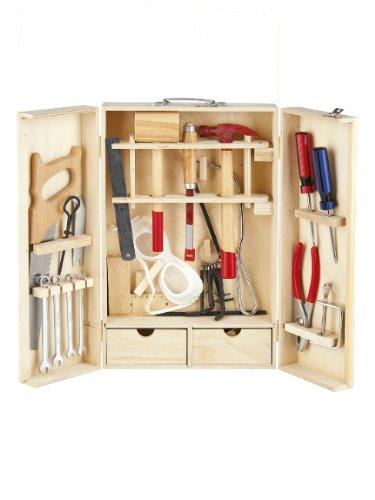 Werkzeugschrank für Kinder - LEOMARK Holz Werkzeugkoffer