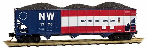 N 100-ton 3-Bay Open Hopper N&W