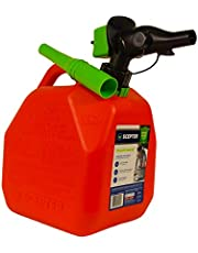 Scepter FR1G252 2 Gallon Gas Can, Fuel Container with Spill Proof SmartControl Spout with Bonus Funnel, Red