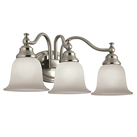 Gentil Portfolio 3 Light Brandy Chase Brushed Nickel Bathroom Vanity Light