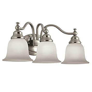 Amazon Com Portfolio 3 Light Brandy Chase Brushed Nickel Bathroom