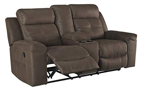 Signature Design by Ashley Jesolo Reclining Loveseat with Console, Coffee
