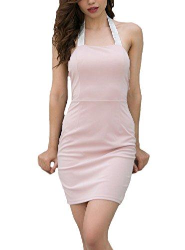 5d56ee6106448 Elegant Cocktailkleider Kurz Sommerkleider Bleistiftkleid Mode Abendkleider  Mädchen Kleider Hipster Dresses Damen Pink Fit Apparel Festlich ...