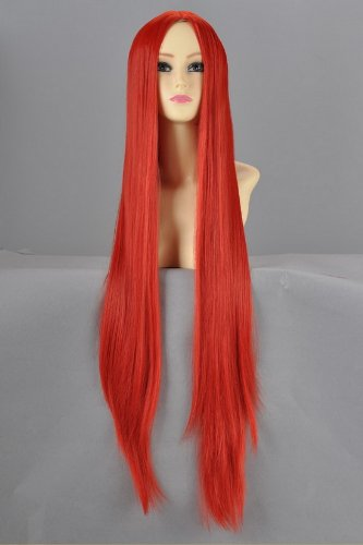 red 100 cm wig - 6