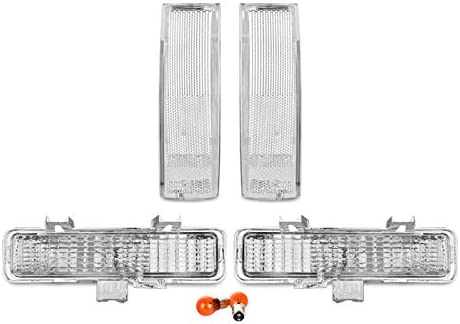 1982-1993 S10 Bumper Signal Lights by DEPO fit for 1983-1994 Chevy Blazer REVi MotorWerks Combo Clear Front Corner