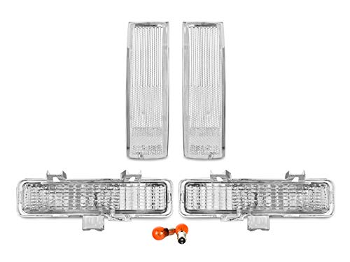 REVi MotorWerks Combo Clear Front Corner + Bumper Signal Lights by DEPO fit for 1983-1994 Chevy Blazer / 1982-1993 S10 ()