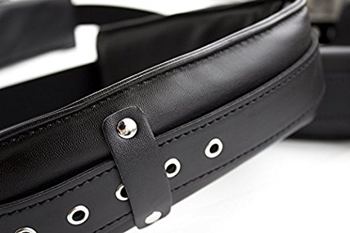 Hands Free Bedroom Sex Toys Position Support Sling Sex Play Things Couple Lover Bed Restraint System Easy Access Faux Leather Padded Leg Stretcher Thighs Spreader Black