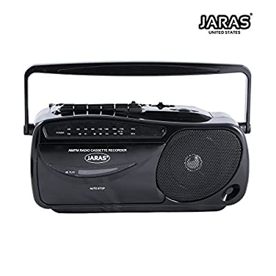 Jaras JJ-2618 Limited Edition Portable Boombox Tape Cassette Player/recorder with AM/FM Radio Stereo Speakers & Headphone Jack from Jaras