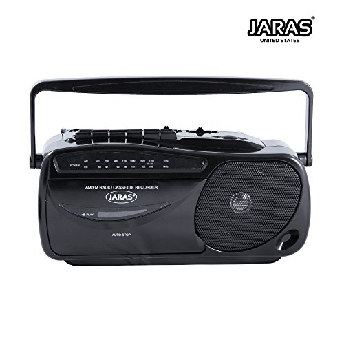 - Jaras JJ-2618 Limited Edition Portable Boombox Tape Cassette Player/Recorder with AM/FM Radio Stereo Speakers & Headphone Jack