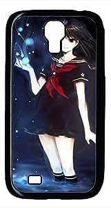 Samsung Galaxy S4 I9500 Black Hard Case - Black Girl Galaxy S4 Cases