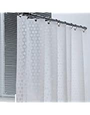 WELTRXE Heavy Duty EVA Shower Curtain Liner with Magnets Waterproof 3D Plastic Clear Bathroom Shower Curtains, No Chemical Smell, No Odors,12 Hooks