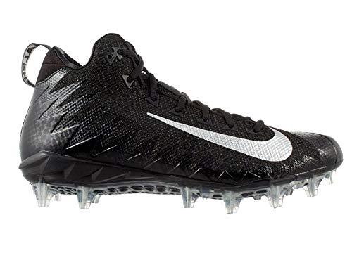 - Nike Men's Alpha Menace Pro Mid Football Cleats (9, Black/White)
