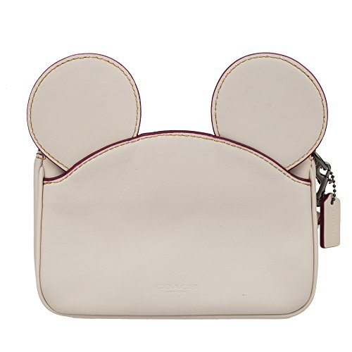 Coach Mickey Leather Ear Wristlet in white F59529 (white) by Coach