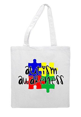 Piece Jigsaw Bag White Shopper Tote Autism Awareness w8qZ5a5E