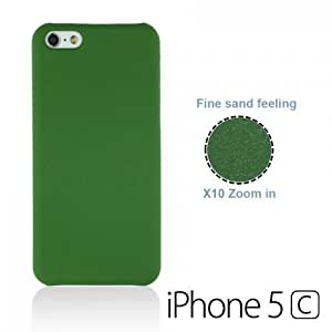 OnlineBestDigital - Frosted Surface Hard Back Plastic Case for Apple iPhone 5C - Green with 3 Screen Protectors and Stylus