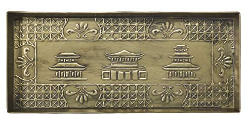 HF by LT Chinoiserie Design Metal Boot Tray, 30