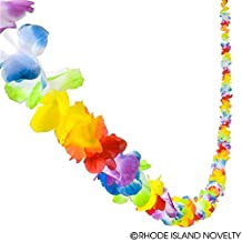 27' Jumbo FLOWER LEI Garland - LUAU Party DECOR Hibiscus - 3 x (9' strands) TROPICAL Decorations HAWAII